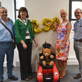 The group photo features people who were involved in the original development and design of the Wizzybug back in 2007 reuniting to mark the occasion.