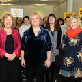 Baroness Notherover (second from left) joins Sightsavers staff at their Haywards Heath office to announce government match-funding total.