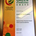 Quality Scotland awarded Gold level National Green Standard Award