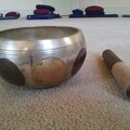A singing bowl, used to signal mindful meditation during taster sessions