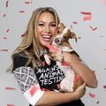 Leona Lewis and her dog celebrate a milestone in 20 years of animal rights campaigning by ethical beauty retailer The Body Shop and non-profit organisation Cruelty Free International. Photograph by Getty Images 2013.