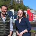 Karl Stevens (Hebridean Whale Trail Manager) and Siobhan Moran (Hebridean Whale Trail Officer)