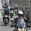 Riding over Clifton Suspension Bridge