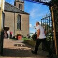 A visitor taking part in Doors Open Days 2019. Credit: Perth and Kinross Heritage Trust