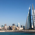 A view across the water from the World Trade Centre in Manama, Bahrain