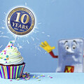 10 Year Logo and Mattressman Image