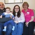 Guy, Dario, Vincenza and Acorn House Manager Sandra Peckham