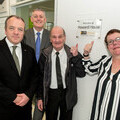 L-R Mike Kane MP, John Thornhill, Chief Executive LTE Group, Steve and Lynn Howard