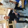 Dr Richard Simcock, Consultant & Ravikumar Pankhaniyar, Healthcare Assistant with one of the leg exercise machines