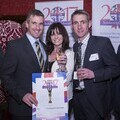 Actress Vicki Michelle MBE with Working Together Award Finalists representing the Army Training Regiment Winchester