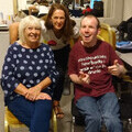 Lee Ridley with Liz and Judy from The Sequal Trust