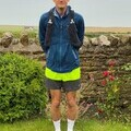 Harry Townshend at the start of his 100-mile run