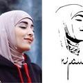 شعار نجود مستمد من صورتها الشهيرة