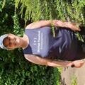 Fundraiser Karen Christian in running vest