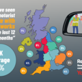 UK map of where most collisions have been witnessed