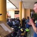 Jack speaking to 700 students in Namibia
