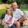 Scott Mills and young supporter Evie