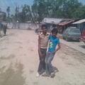 Our Sansar boy making friends with a street boy