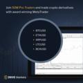 Trade crypto derivatives with award winning, MetaTrader.