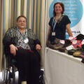 Photo of Claire De Havilland, amputee  and Jill Steaton Diabete UK, South East regional manager