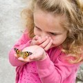 Amber May with Butterfly