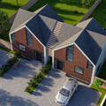 New build houses in the Green Belt,  pair of three bedroom houses that reflect the local tradition while having a contemporary feel.