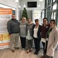 Des and Sam Cox (Home Hub Foster Carers), Ambreen Azhar (SCST), Diane Heath (The Fostering Network), Nancy Magon (SCST) and Lisa Humphreys (SCST CEO)