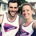Samantha Luff with running partner Chris Bowyer