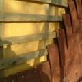 Sprayed polyurethane foam used for wall insulation
