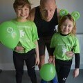 Cross family burpee team ready to go in their Charity Tshirts