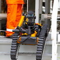 Taurob Inspector robot on site (photo Total/Ben Mullay)