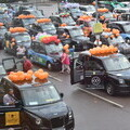 LTCFC volunteer taxi drivers getting ready to travel to Southend