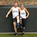 Katharine and Mark in African Promise running jerseys