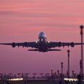A380 sunset takeoff, New Zealand (Flickr / Ben)