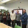 Master Students Na Cheng, Evonne, Daisy, Omar, Matt and Ceangail Chair Matt McGrandles