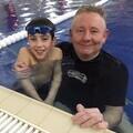 Oliver and his Swim Safe School teacher Darren