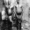 Alice Seeley Harris, Manacled members of a chain gang at Bauliri. A common punishment for not paying taxes, Congo Free State, c. 1904. Courtesy Anti-Slavery International/Autograph ABP