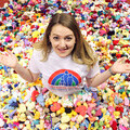1. Rachel Astill of Francis House with thousands of knitted chicks
