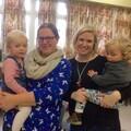 Directors Gemma Jones and Ellie Thouret with their youngest respective children