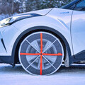 AutoSock monté sur pneus.