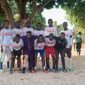 Lamin with Football Team