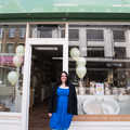 Elizabeth Jones, outside her shop Natures Purest Balham