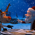 Video eCard - Santa and Rudolph play rock paper scissors