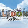 Caledonia Festival logo with saltire background