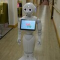 Pepper the robot makes herself at home in the halls of Miners Court