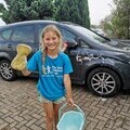 Lilly Stead has been washing cars to raise money for The Sick Children