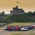 Teams line up at Cardiff Castle for the 2018 event