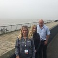 Linda Clark (Community Development Manager, YMCA Humber), Zoe Young (transition student) and Pat Tuohy (Prison Me No Way