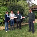 Chipps, Will and Charles Mann receiving their award from Mark Tufnell