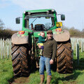 Farmer Mark Chattey with his daughter, who he has named his copse after.